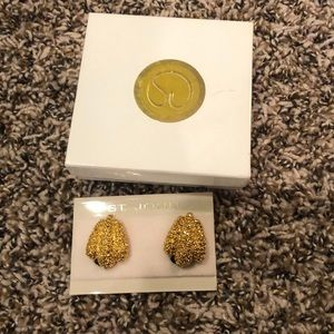 St. John earrings never worn